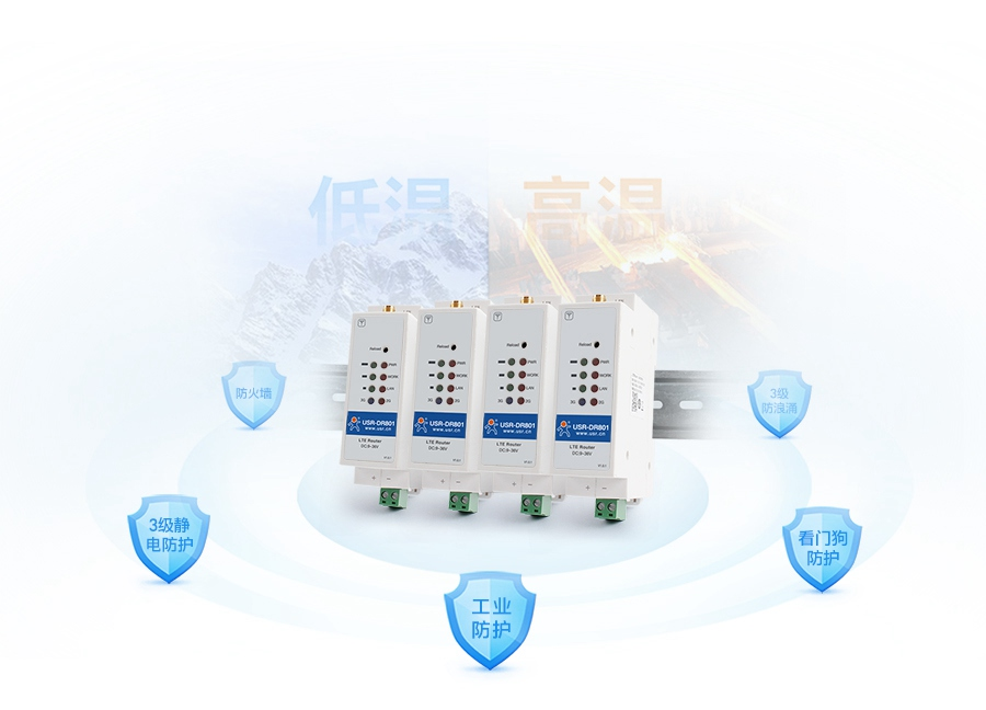 导轨式4g工业路由器具有稳定运行特征
