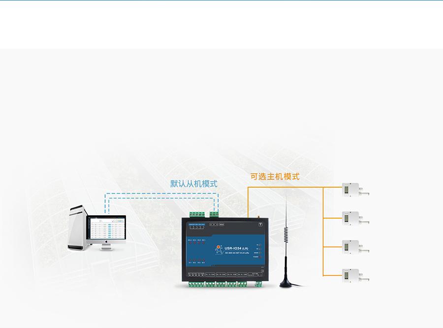 LoRa网络IO控制器的主从机模式自定义功能