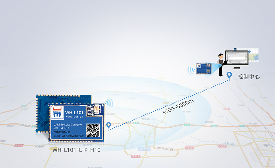 LoRa点对点模块的远距离数据传输