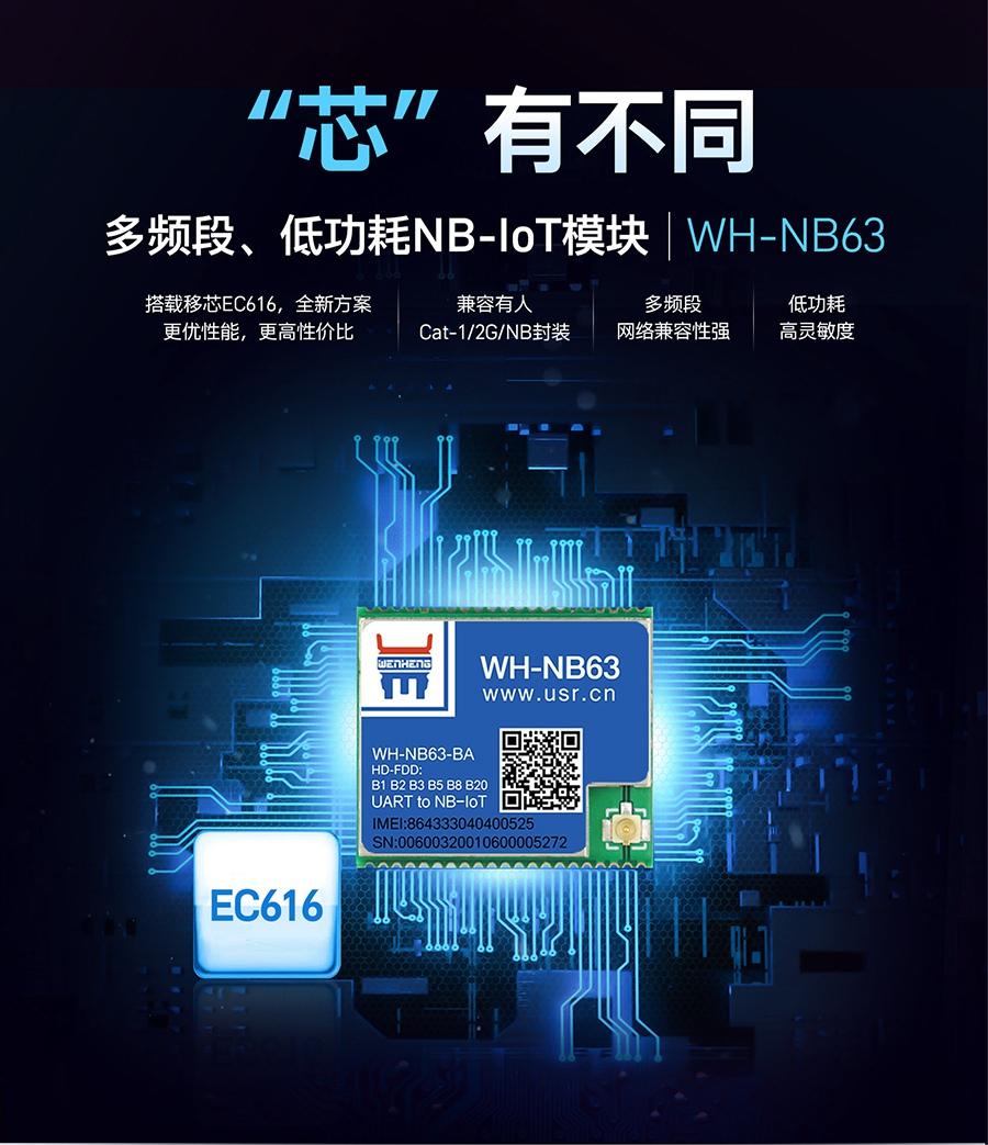 nbiot模块|低功耗多频段|搭载EC616|兼容有人Cat-1