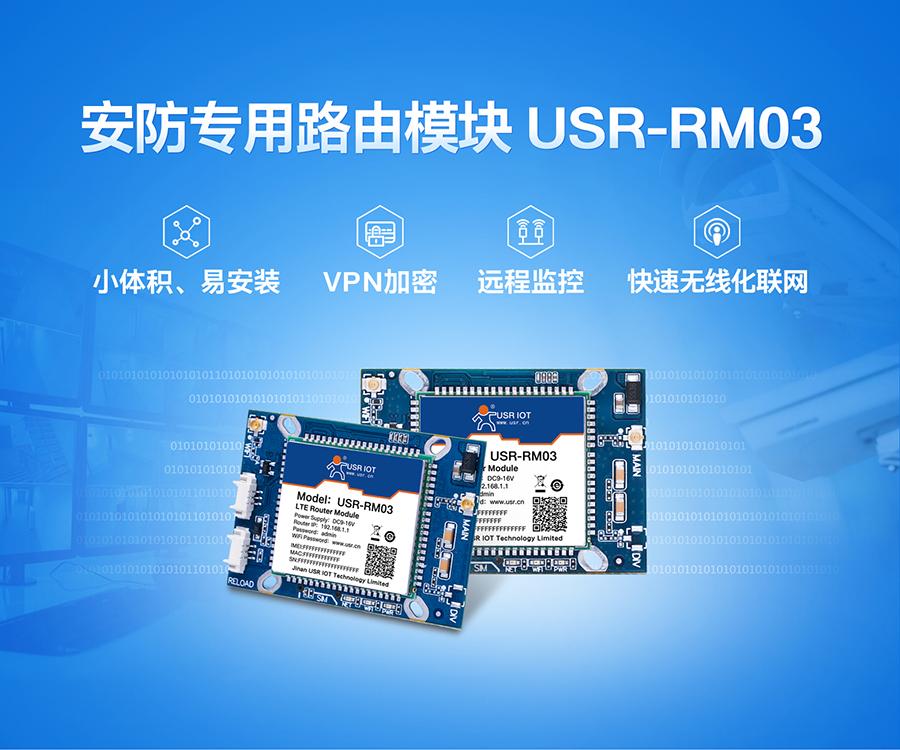 工业路由器模块USR-RM03_安防专用监控模块