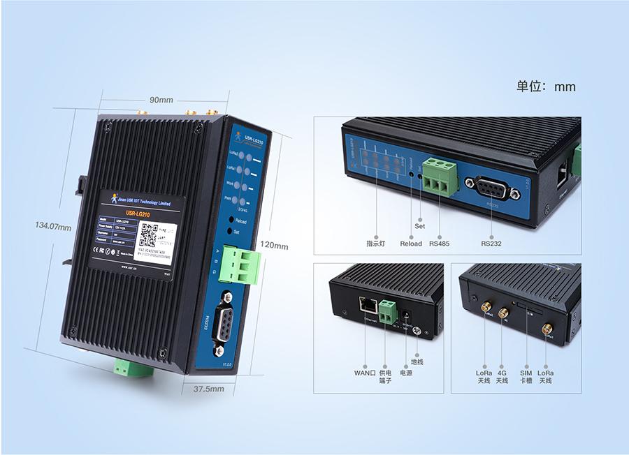 LoRa无线网关产品细节