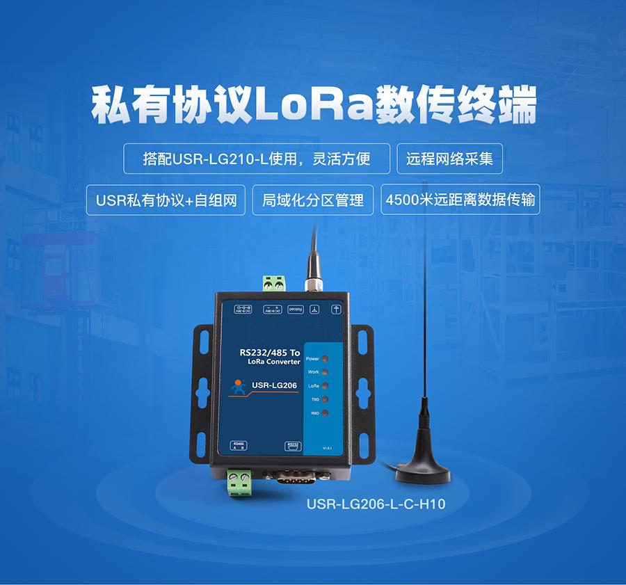 LoRa自有协议数传终端_lora传输终端设备_自组网4.5公里远距离传输