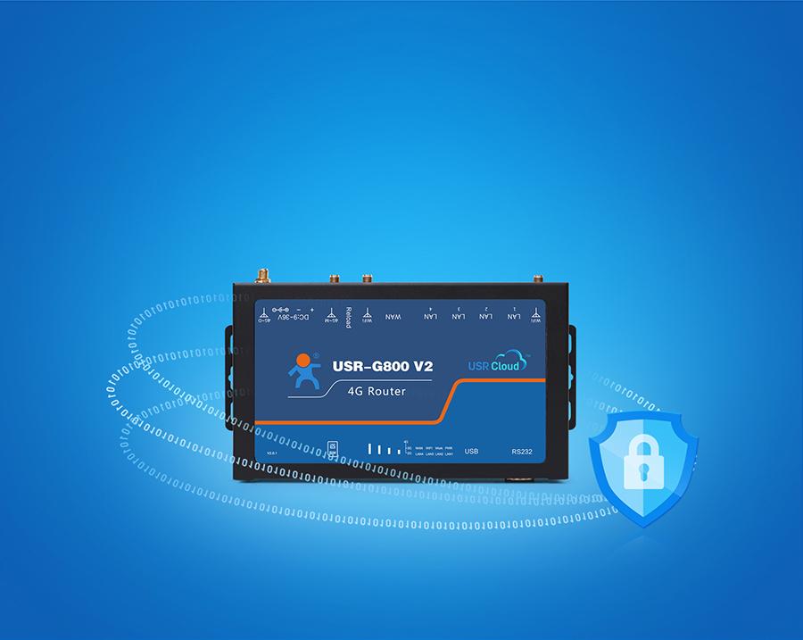 四口云工业路由器支持VPN加密传输,数据更安全