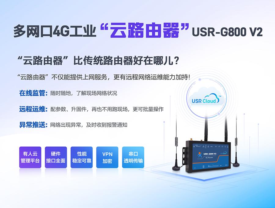 全网通工业4G路由器_RS232工业4G无线路由器_四口工业路由器4LAN口