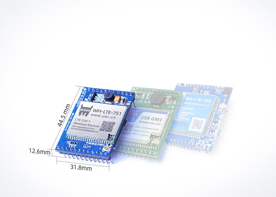 cat1插针式模块兼容有人2G、4G、NB封装,实现快速切换