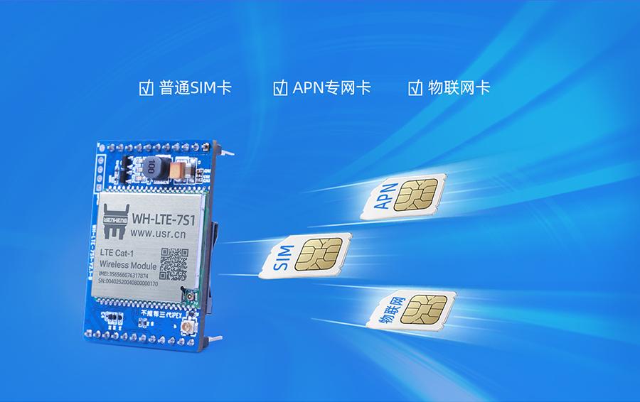 cat1插针式模块的SIM卡接口展示