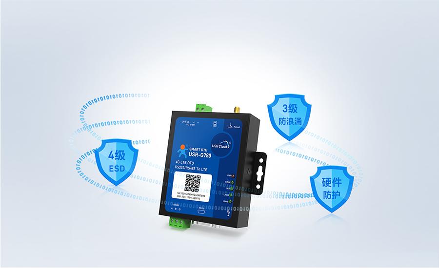边缘采集4G DTU支持硬件防护功能