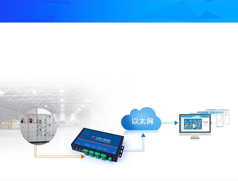 RS485八串口服务器的工业自动化远程监控