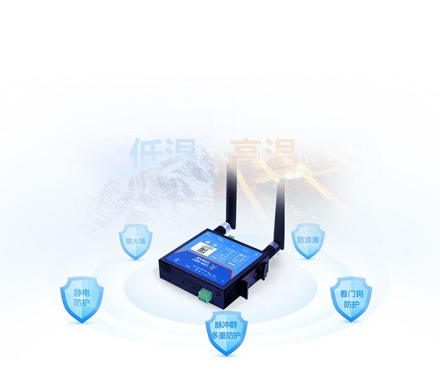 RS485工业路由器硬件防护等级高