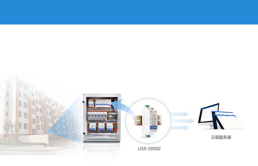 导轨式Cat1 Modem配电箱数据采集应用