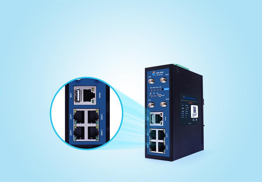 4G工业路由网关的网管型VLAN划分